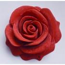 Sünteetiline Korall Roos ühendaja 45x20mm mattistatud tumedam punane, 2 ava 1mm,  1 tk  Ei saa saata maksikirjaga.