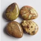 Ahhaat lapikud tilgakujulised helmed 17-18x13-14x5-7mm, looduslik kivi, ava 1,2mm, pakis 4 tk
