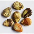 Ahhaat lapikud tilgakujulised helmed 17-18x13-14x5-7mm, looduslik kivi, ava 1,2mm, pakis 7 tk