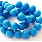 Jadeiit 10mm looduslik, värvitud sinine, ava 1mm, pakis 10 tk
