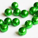 Akrüülpärl 8mm roheline, ava 2mm, pakis 15 tk