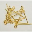 Kuldne ehtenõel aasaga 2,2cm, 10 tk