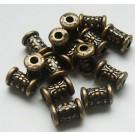 Vasevärvi metallhelmes  7x5mm, 1 tk