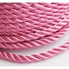 Punutud polüesternöör 4mm läikiv  roosa, 1 m
