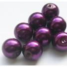 Fuksiinpunased  klaaspärlid  10mm, 1tk