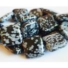 Lumehelbe Obsidian 20x20mm, looduslik kivi, 1 tk