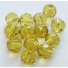 Hele meevärvi kollane lihvitud klaashelmes 6 mm, 1 tk