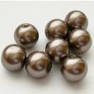 Pruunikas-hallid  klaaspärlid 10mm, 1 tk
