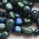 Lapis Lazuli helmed 10-20mm looduslik värvitud sinise-rohelisekirju, pakis 6 tk.