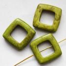 Hauliit 20x20mm looduslik värvitud kollakasroheline, pakis 4 tk.