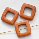 Hauliit 20x20mm looduslik värvitud oranžikaspruun, pakis 4 tk.