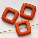 Hauliit 20x20mm looduslik värvitud pruunikaspunane-oranž, pakis 4 tk.