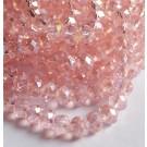 Lihvitud rondell 8x6mm lihvitud, AB läige, roosa, 1 tk