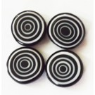 Millefiori helmes 12x5mm, must,   4 tk