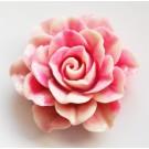 Korall ühendaja  sünteetiline 52x46x19mm, roosa, 1  tk. Ei saa saata liht- ega tähitud maksikirjaga.