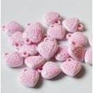 Akrüülripats Süda 16x15x5 roosa-valge, 1 tk