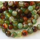 Ahhaat 8mm lihvitud looduslik värvitud, roheline, 1 tk