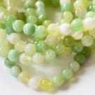 Ahhaat 8mm looduslik värvitud, heleroheline, 1 tk
