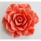 Korall ühendaja  sünteetiline 51x48x19mm, roosakasoranž, 1  tk. Ei saa saata liht- ega tähitud maksikirjaga.