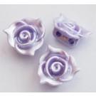 Akrüülhelmes-ühendaja 14x14x7mm, pärliläikeline, kaherealine, hele lilla, 1 tk