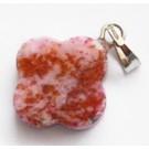 Jaspis ripats 18x14x3-4mm looduslik, värvitud, punakasroosa, 1 tk
