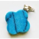 Türkiis ripats 18x14x3-4mm looduslik, värvitud, sinine, 1 tk
