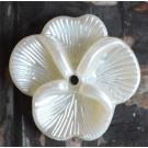 Akrüülhelmes Lill 22x21mm valge pärliläikeline, 1 tk