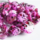 Pärlmutterhelmes 15-25mm naturaalne, värvitud lillakasroosa, 6 tk