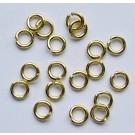 Kuldne rõngas 4mm, 10 tk