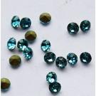 Klaaskristall 2,8mm koonus, hele-meresinine, 10 tk