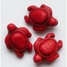 Sünteetiline hovliit kilpkonn 19x14mm, punane, 1 tk