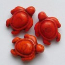 Sünteetiline hovliit kilpkonn 19x14mm, oranž, 1 tk