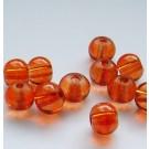Ümar klaashelmes oranžikas punane, 6mm, 10 tk