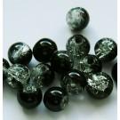 Mõraline klaashelmes must-valge, 6mm, 10 tk