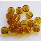 Ümar klaashelmes kollakas-pruun, 6mm, 10 tk