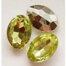 Akrüülkristall 14x10x5mm  rohekas-kollane, 1 tk