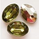 Akrüülkristall 14x10x5mm oliivroheline, 1 tk