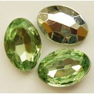 Akrüülkristall 14x10x5mm heleroheline, 1 tk