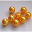 Oranž akrüülpärl 10mm, 1 tk