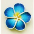 Sinine fimo lill 34mm, 1 tk.  Ei saa saata liht- ega tähitud maksikirjaga!