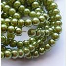 Klaaspärl 4mm roheline, 10 tk