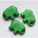 Sünteetiline türkiis elevant 20x15mm roheline, 1 tk