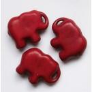 Sünteetiline türkiis elevant 20x15mm punane, 1 tk