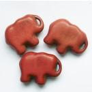 Sünteetiline türkiis elevant  20x15mm punakas-pruun, 1 tk