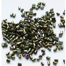 Pruunid kandilised seemnehelmed 2x2mm, 10 gr