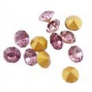Klaaskristall  3,8mm  roosa, 1 tk