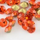 Klaaskristall 2,8mm punakas-oranž, 10 tk