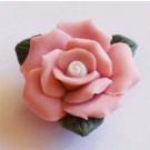 Roosa keraamiline lill 23x11mm, 1 tk