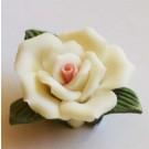 Valge keraamiline lill 23x11mm, 1 tk