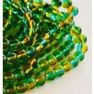 Ümar klaashelmes 6mm roheline-oranž, 10 tk